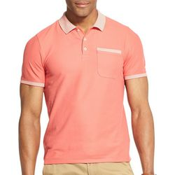 Van Heusen Mens Air Solid Stripe Trim Polo Shirt