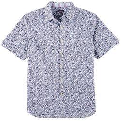Van Heusen Mens Micro Floral Print Never Tuck Shirt