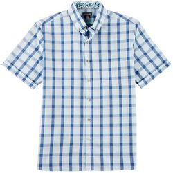 Van Heusen Mens Plaid Slim Fit Never Tuck Shirt