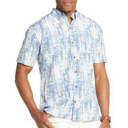 Van Heusen Mens Air Leaf Print Short Sleeve Shirt