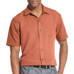Van Heusen Mens Air Textured Stripes Short Sleeve Shirt