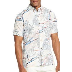 Van Heusen Mens Tropical Print Never Tuck Shirt