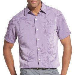 Van Heusen Mens Air Non-Iron Pineapple Short Sleeve Shirt