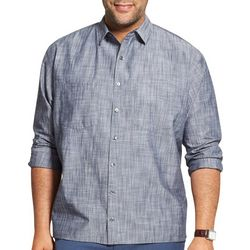Van Heusen Mens Big & Tall Never Tuck Scratchy Print Shirt