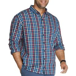 Van Heusen Mens Big & Tall Never Tuck Check Shirt