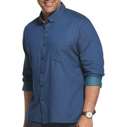 Van Heusen Mens Big & Tall Never Tuck Dobby Dot Shirt