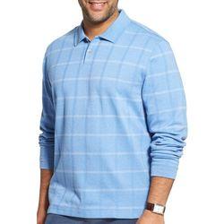 Van Heusen Mens Big & Tall Flex Windowpane Polo Shirt