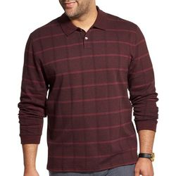 Van Heusen Mens Big & Tall Flex Windowpane Polo Shirt
