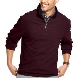 Van Heusen Mens Big & Tall Never Tuck Quarter Zip Pullover