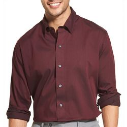 Van Heusen Mens Slim Fit Flex Sateen Long Sleeve Shirt