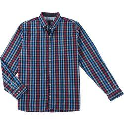 Van Heusen Mens Never Tuck Slim Fit Checkered Shirt