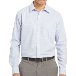 Van Heusen Mens Long Sleeve Plaid Traveler Shirt