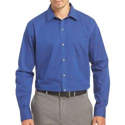 Van Heusen Mens Blue Stripe Traveler Shirt