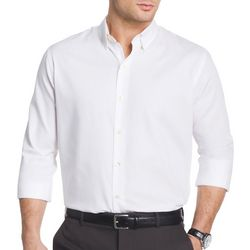 Van Heusen Mens Long Sleeve Satin Stripe Shirt