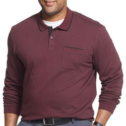 Van Heusen Mens Big & Tall Flex Long Sleeve Polo Shirt
