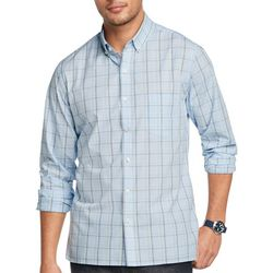 Van Heusen Mens Never Tuck Grid Print Shirt