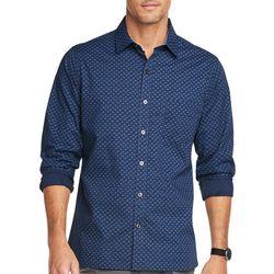 Van Heusen Mens Never Tuck Paisley Print Shirt