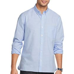 Van Heusen Mens Never Tuck Space Dyed Print Shirt