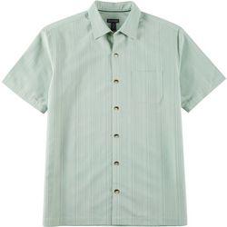 Van Heusen Mens Stripe Texture Button Down Camp Shirt