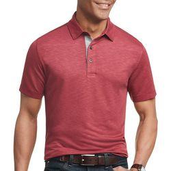 Van Heusen Mens Solid Air Short Sleeve Polo Shirt