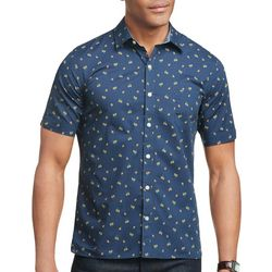 Van Heusen Mens Never Tuck Lemon Button Down Shirt