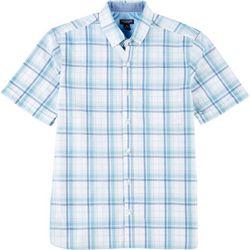 Van Heusen Mens Never Tuck Plaid Printed Button Down Shirt
