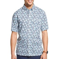 Van Heusen Mens Never Tuck Abstract Print Short Sleeve Shirt