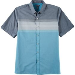 Van Heusen Mens Stripe Print Slim Short Sleeve Shirt