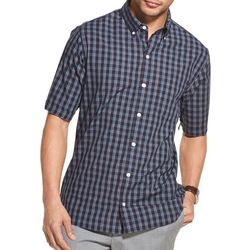 Van Heusen Mens Plaid Print Slim Short Sleeve Shirt