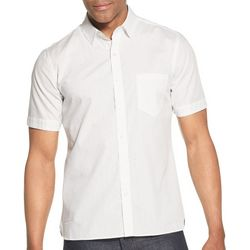 Van Heusen Mens Never Tuck Slim Fit Dot Short Sleeve Shirt
