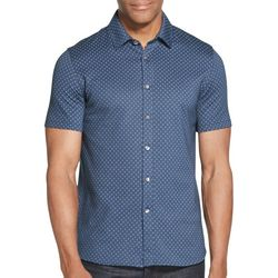 Van Heusen Mens Never Tuck Slim Fit Short Sleeve Shirt