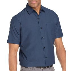 Van Heusen Mens Big & Tall Mini Check Short Sleeve Shirt