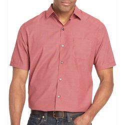 Van Heusen Mens Big & Tall Mini Check Short Sleeve Shirt