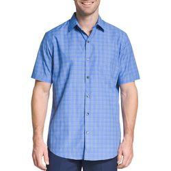 Van Heusen Mens Big & Tall Windowpane Short Sleeve Shirt
