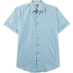 Van Heusen Mens Big & Tall Windowpane Plaid Shirt