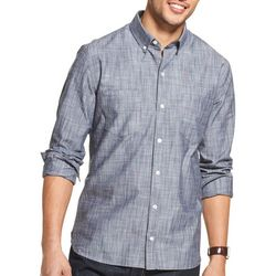 Van Heusen Mens Never Tuck Scratchy Print Shirt