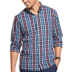 Van Heusen Mens Never Tuck Slim Fit Check Shirt
