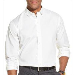 Van Heusen Mens Slim Fit Flex Sateen Long Sleeve Shirt