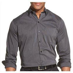 Van Heusen Mens Traveler Stripe Print Long Sleeve Shirt