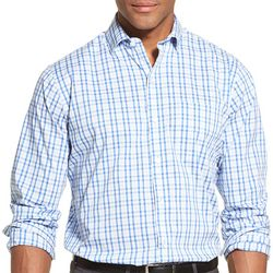 Van Heusen Mens Traveler Stretch Plaid Shirt