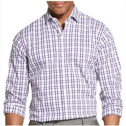 Van Heusen Mens Traveler Gingham Long Sleeve Shirt