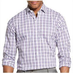 Van Heusen Mens Traveler Gingham Long Sleeve Shirt