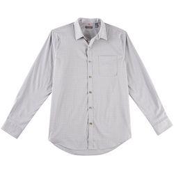 Van Heusen Mens Traveler Plaid Long Sleeve Shirt