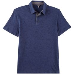 Van Heusen Mens Slub Nevertuck Short Sleeve Polo Shirt