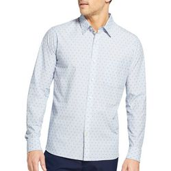 Van Heusen Mens Stripe Never Tuck Shirt