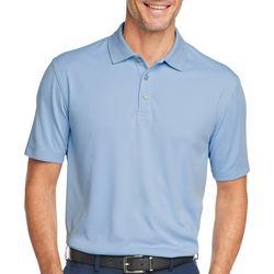 Van Heusen Mens Solid Ottoman Short Sleeve Polo Shirt