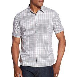 Van Heusen Mens Madras Plaid Never Tuck Shirt