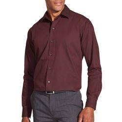 Van Heusen Mens Sateen Stripe Print Long Sleeve Shirt