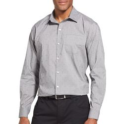 Van Heusen Mens Traveler Box Plaid Long Sleeve Shirt