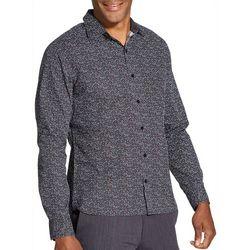 Van Heusen Mens Dot Print Never Tuck Long Sleeve Shirt